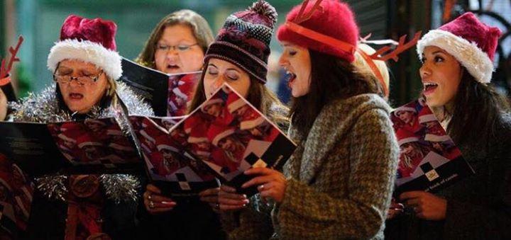Carol singing by Christchurch choir
